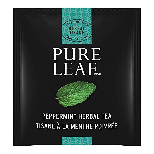 Pure Leaf Peppermint Enveloped Hot Tea Bags Herbal Caffeine Free, 20 count, Pack of 6