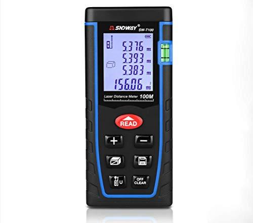 HYLH Medidor de Distancia láser de Mano 40M 60M 80M 100M telémetro Cinta láser Rango de compilación Dispositivo de Medida Herramienta de Prueba Regla,100M