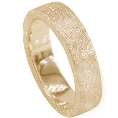 Massieve zilveren ring, hoogwaardig goudsmeedwerk uit Duitsland (sterling zilver 925 verguld) - zware zilveren ring - eenvoudige damesring herenring partnerring