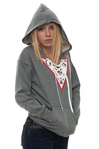 Guess Sudadera con capucha gris algodón mujer gris L