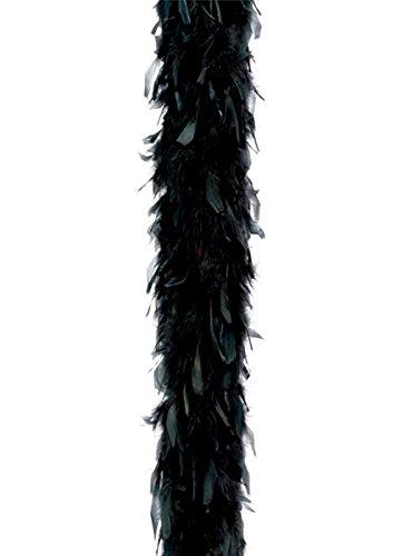 Guirca- Boa plumas, Color negro, Talla única (16342.0)