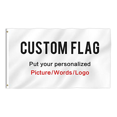 KafePross Custom Outdoor Flag 3X5 FT Use Your Personalized Picture Text or Logo to Customized Gifts Print One Side