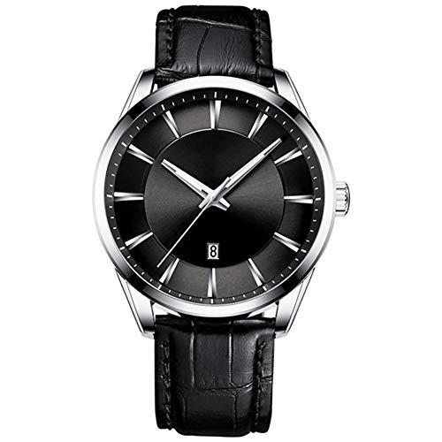 FUNBS Reloj Luminoso a Prueba de Agua, Reloj con cinturón de Negocios para Hombres, Reloj de Pulsera Multifuncional, Reloj Deportivo para Hombres, Resistente al Agua y al Polvo, el Mejor blackSilver