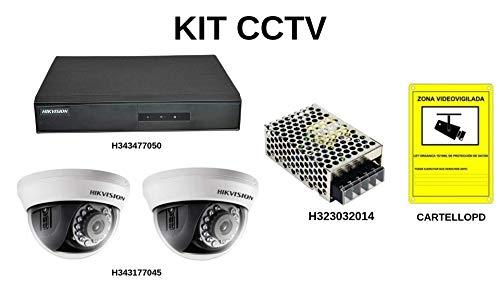 Set met 2 bewakingscamera's voor de installatie binnenshuis.