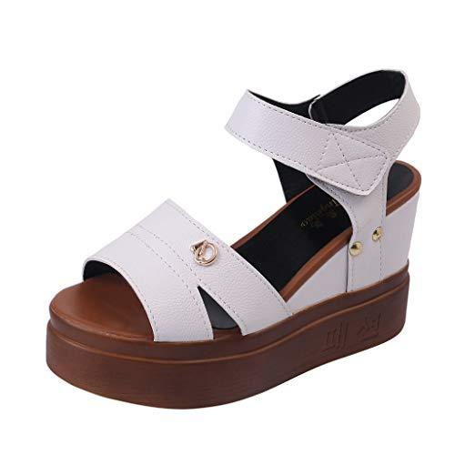 VJGOAL Dames sandalen met hak zomer mode party hoge hakken full colour sexy waterdicht platform vismaul dikke bodem kleine code wig sandalen