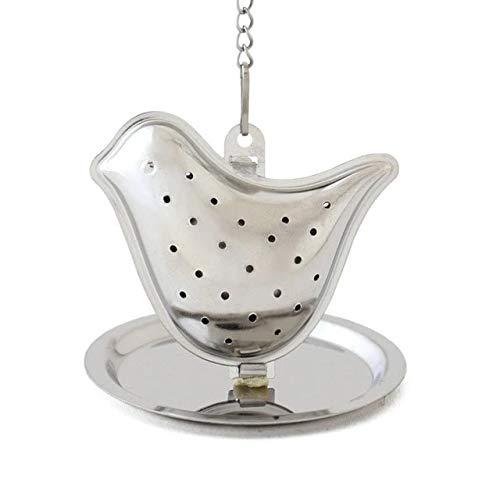 1 1pcs Stainless Steel Tea Infuser Loose Leaf Tea Strainer Herbal Spice Infuser Filter Rocket Teapot Bird House Shape Tea Tools B