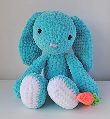 Lapin peluche 40cm crocheté main Amigurumi Marshmallow Toys