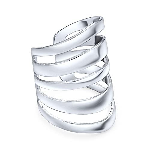 Minimalist Geometric Sliced Split Band Cartilage Ear Cuffs Clip Wrap Helix Earrings Non Pierced Ear 925 Sterling Silver