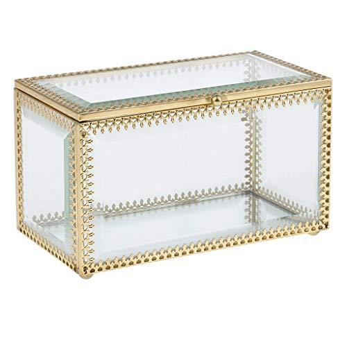 Backbayia - Expositor de joyas, caja de terrario de cristal, caja de...
