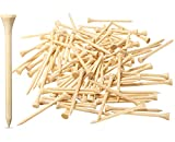 Dsenfurn 250 Pack Professional Bamboo Golf Tees 2-3/4 Inch - Stronger Than Wooden Golf Tees Biodegradable & Less Friction