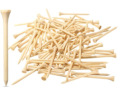 Dsenfurn 250 Pack Professional Bamboo Golf Tees 2-3 4 Inch - Stronger Than Wooden Golf Tees Biodegradable & Less Friction