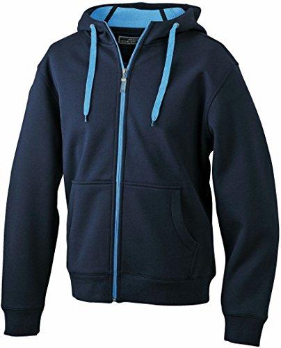 Men's Doubleface Jacket/James & Nicholson (JN 355) S M L XL XXL 3XL Navy/Aqua,XXL