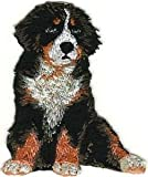 VirVenture 2 1/4' x 2 3/4' Sitting Bernese Mountain Dog Breed Embroidery Patch Great for Hats, Backpacks, and Jackets.