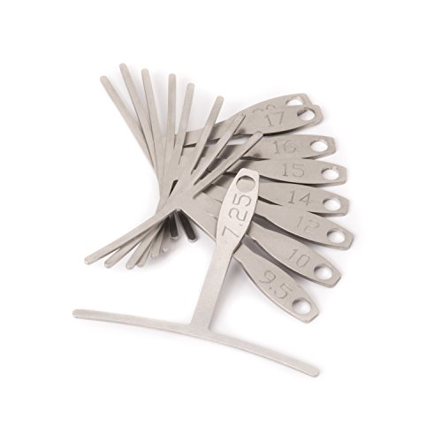 StewMac Understring Radius Gauge Tool, Set of 9, Standard Width for Guitar Setup, Stainless Steel