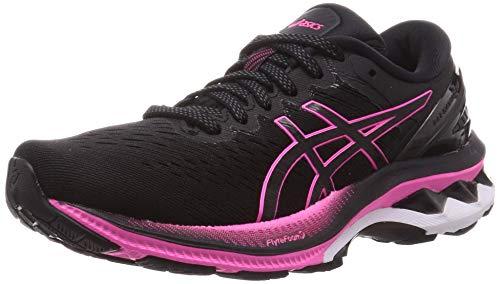 ASICS Damen Gel-Kayano 27 Road Running Shoe, Black/Pink Glo, 39 EU