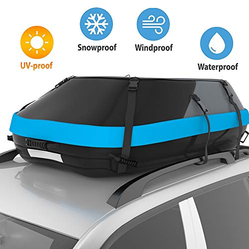 STDY Upgraded 20 Cubic Feet Rooftop Cargo Top Carrier Bag,Travel Cargo Bag by Thickening Waterproof...