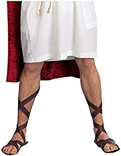 Company Roman Sandals (Brown) Adult Halloween Costume Accessory Size Standard