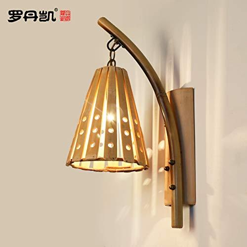 BOOTU lámpara LED y luces de pared Luces de pared de bambú virgen expuesta lámpara bambú restaurante Japonés Coreano bambú lámpara de bambú tejido muro, como se muestra en la figura