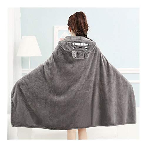 GLANGYU Decken Cartoon Wearable Pelzdecke Bett Decke Nette Warme Decke Im Winter (Color : Q6, Size : S 150x70cm)