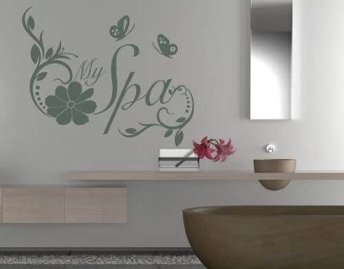 My Spa Quote with Flowers and Decal Butterflies Wall 新品■送料無料■ 爆買い新作 by Style
