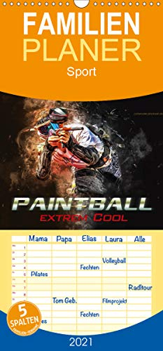 Paintball - extrem cool - Familienplaner hoch (Wandkalender 2021, 21 cm x 45 cm, hoch)