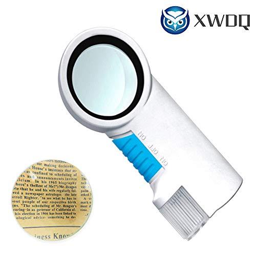 Vergrootglas draagbare handheld LED-licht kunststof 8X oudere aflezing waardewaardering met zaklamp functie vergrootglas