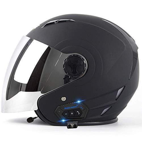 ZHEN Adultos Cascos de Motocicleta Viseras de Cascos de Motocicleta abatibles de Cara Completa con Bluetooth, Sistema de comunicación de intercomunicador Integrado Integrado Cascos de Motocross a