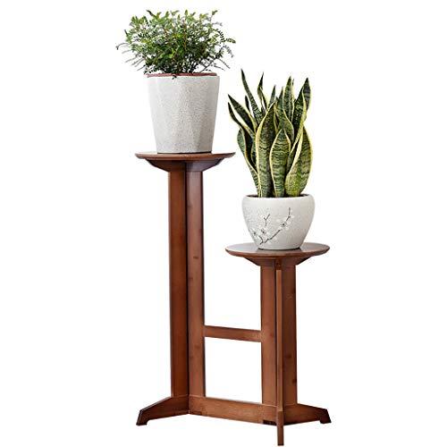 Porte-fleurs Bamboo Landing Intérieur, salon, balcon Plantes vertes, plantes en pot Porte-pots à fleurs Étagère Porte-vases haut (taille : 50 * 31 * 100cm)