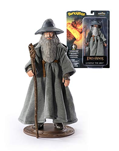 Lord of the Rings- Figura Bendyfigs El Señor de los Anillos Gandalf (Noble Collection 849421006839)