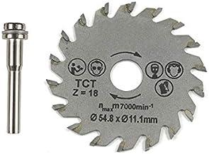 FEKETEUKI Herramienta rotativa HSS de hoja de sierra circular 54.8mm Mini discos de corte de madera Hojas con mandril de taladro para cortador de metal Dremel-Gris-1 Tamaño