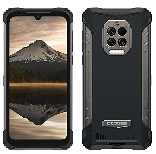 DOOGEE S86 Pro Móvil Resistente, Batería 8500mAh, Termómetro de Infrarrojos para La Frente,8GB+128GB,IP68 Smartphone Antigolpes,Altavoz Potente 2W,Cámara Cuatro 16MP, Gorilla Glass 6,1'',NFC Negro