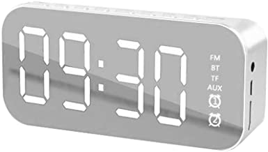 Alarm Clock, Digital Alarm Clock Mirrored LED Display Beside Clock for Bedroom Decor Basic Alarm Clock with English manual
