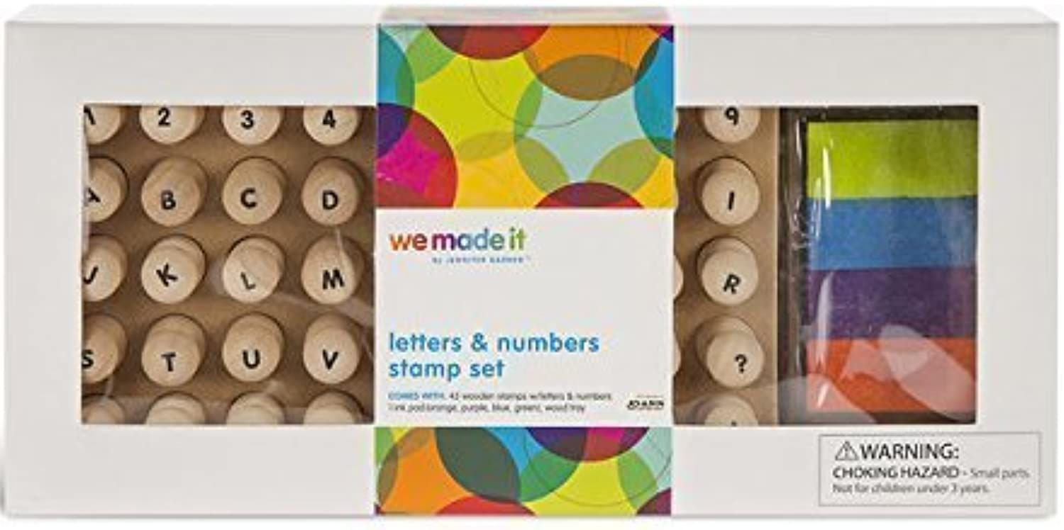 We Made It By Jennifer Garner Letters & Numbers Stamp Set by We Made It By Jennifer Garner