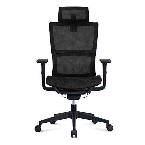 The best of us Office Chair Home Computer Chair Ergonomic Chair Rotating Lift Boss Chair Gaming Chair-Black nylon feet