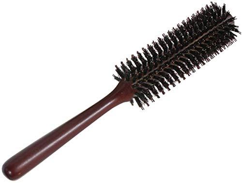 Rundbürste aus natürlichen Wildschweinborsten, bart weichmit speziellen Noppen, antistatische, für Männer und Frauen Trocknen, Haar Styling, Curling(12-reihig)