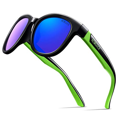 Sunglasses for Kids Boys Youth Junior Rubber Flexible Polarized Glasses for Baseball Cycling Running