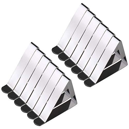 ENET 12x Verstelbare tafelkleden Clips Tafelkleed RVS voor Jumbo Tafelhoes & Rok Houders