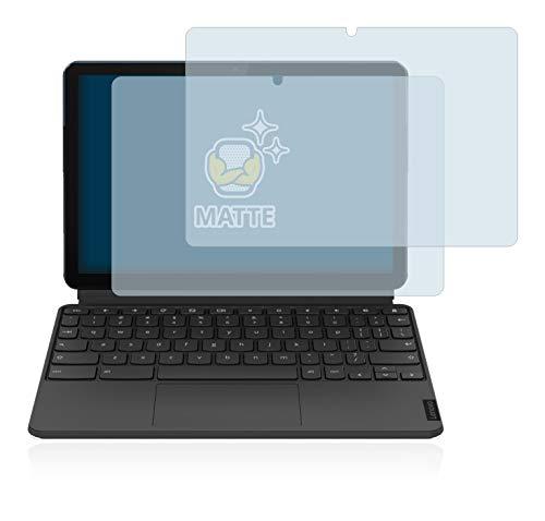 BROTECT 2X Entspiegelungs-Schutzfolie kompatibel mit Lenovo IdeaPad Duet Chromebook (im Querformat) Matt, Anti-Reflex, Anti-Fingerprint