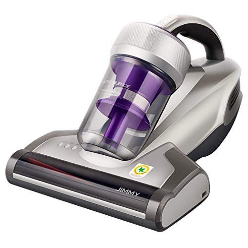 Jimmy JV35 - Aspirador antiácaros con luz UV-C (14 kPa, potente aspiración de mano, limpiador de colchones, 700 W, potencia de calentamiento rápido, colector de polvo, color gris y lila
