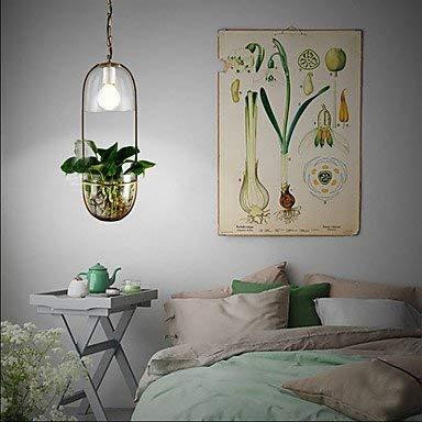 L-S Moderne Kronleuchter Deckenleuchten Anhänger IKEA Glas-Bett-Villa in Der Landschaft Terrasse Mode Pflanze Kronleuchter 3C Ce FCC Rohs für Wohnzimmer Schlafzimmer, 220-240 v