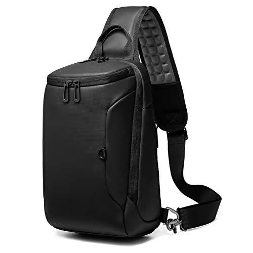 ボディバッグ ワンショルダーバッグ メンズ 大容量 防水 2019新品ショルダーバッグ マッサージ機能 左右肩掛け可能USBポート