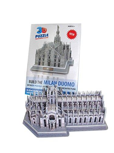 Duomo di Milano Puzzle 3d tridimensionale da assemblare cm 27x15