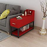 NBVCX Furniture Decoration Solid Wood Sofa Side Table Office Corner Table Leisure Table Writing Double Layer with Drawer 2 70 * 30cm
