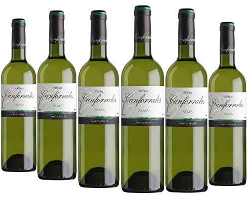 Canforrales Alma Verdejo Vino Blanco - Paquete de 6 x 750 ml - Total: 4500 ml