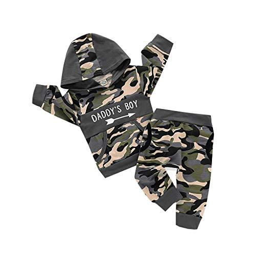Kobay Säuglings Neugeborenes Baby Mädchen Jungen Camouflage Strampler Haarband Langarm Camouflage Reißverschluss Overall Klettergurt Haarband + Hut (6-24M) (70,0-3 Monate, Tarnen # 2)