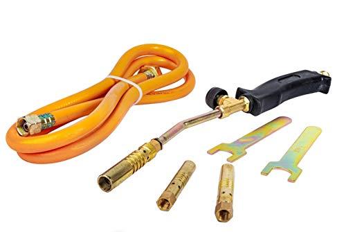 propaan butaan gas verwarming fakkel brander slang regelaar daken loodgieters kit