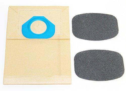 Sparegetti Lot de 20 sacs d'aspirateur compatibles avec Nilfisk 82095000 et 2 filtres G90, GA70, GM80, GS80, 90
