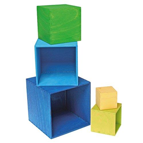 Grimm's kleiner Kistensatz bunt aussen blau - 5