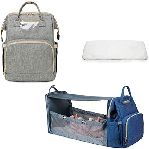 Multifunctional Baby Travel Bed, Portable Diaper Changing Station Mummy Bag Backpack,upgrade Portable Bassinets For Baby,baby Nest With Mattress,for A Weekend Trip Or A Seaside Holiday During The Day