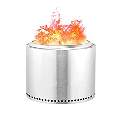 Outdoor Fire Pits Stainless Steel Folding Furnace Charcoal Burning Fire Bowls Multifunctional Fire Pit For Heating/BBQ, For Camping Picnic Garden by Foxlove